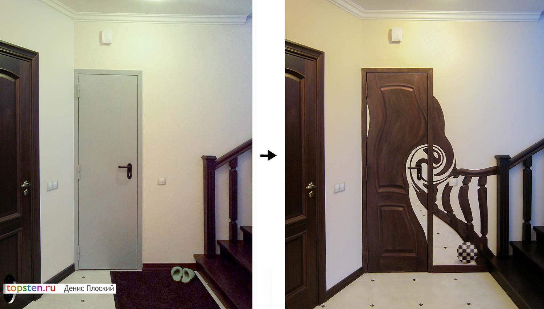 Узор на двери фото