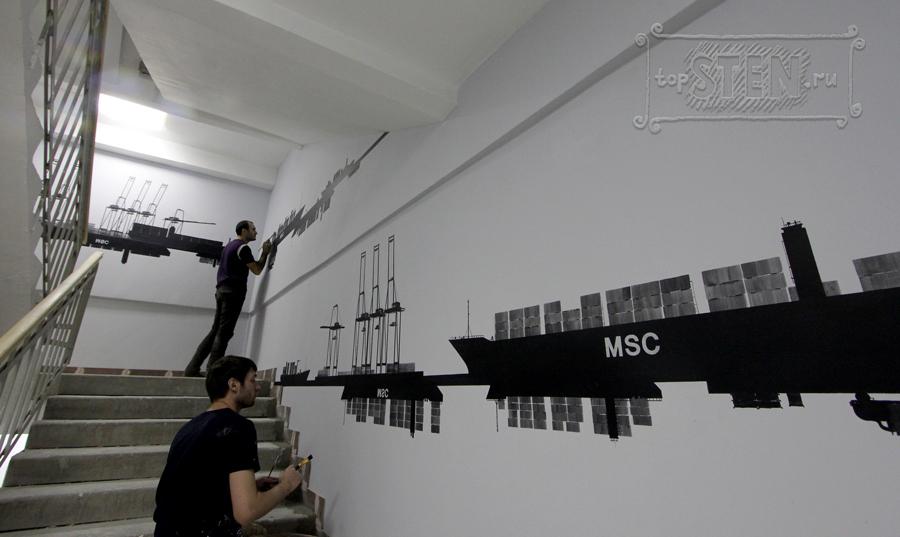 Черно белое  на стену