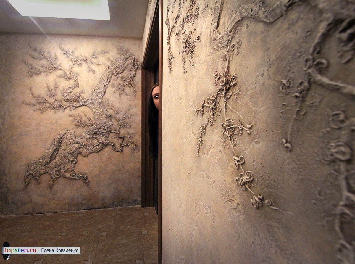 Барельеф на стенах в квартире своими руками фото 100