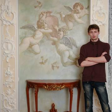Фреска с ангелами • гостиная