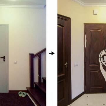 Дизайн дверей рисунками • ФОТО примеры