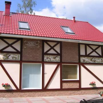Фасад загородного дома • художественная роспись