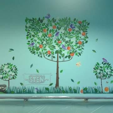 Рисунки деревьев • декор стен медицинского центра