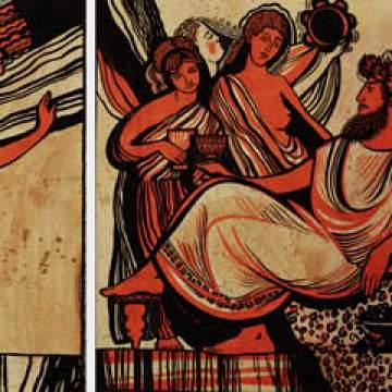 Древнегреческие рисунки • художественная роспись