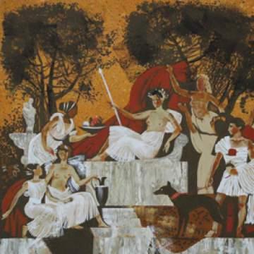 Фреска мифология • дизайн стен интерьера