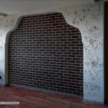 Шинуазри в интерьере спальни • декор ниши