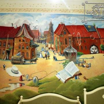 Сказочная роспись • оформление стен детской