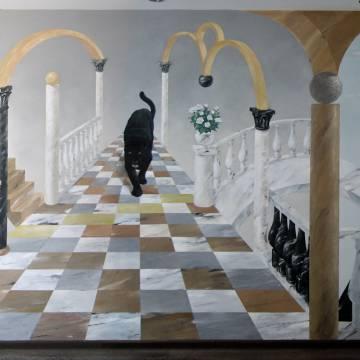 Пантера • необычная роспись стен
