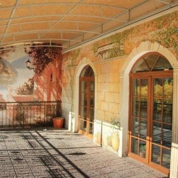Летнее кафе • роспись фасада с фреской