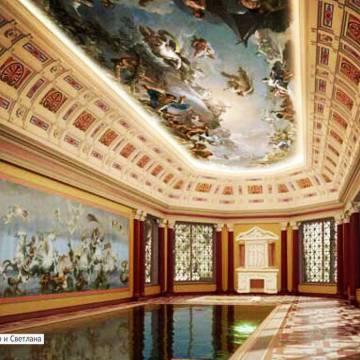 Роспись бассейна в частном особняке
