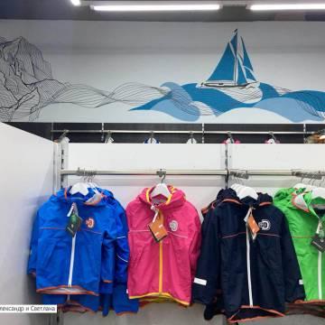 Роспись стен интерьера магазина одежды