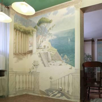 Художественная роспись стены в классическом стиле