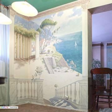 Художественная роспись стены в квартире | СПб