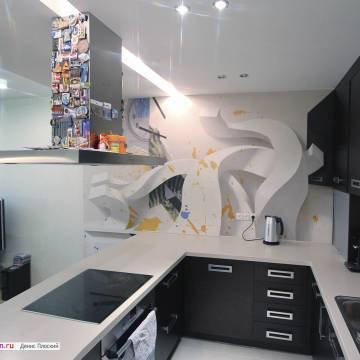 3д рисунки на стенах в квартире | лучшее