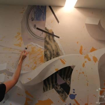 3D абстракция • рисунок на стене кухни