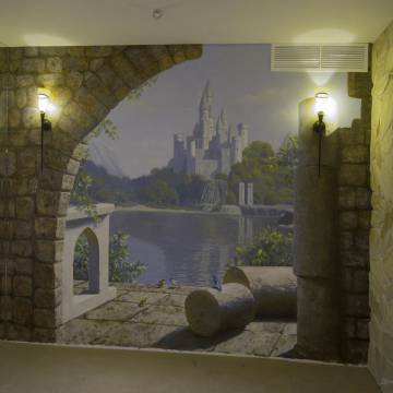 Роспись стен - замок