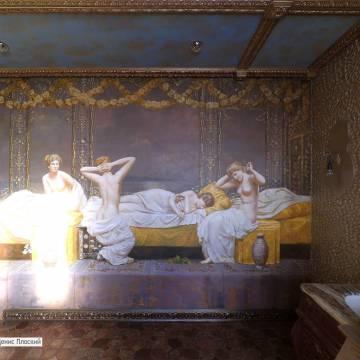 Роспись стен в ванной комнате - Москва