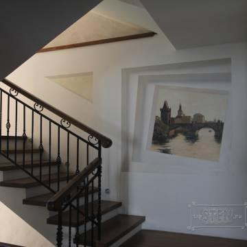 Виды Праги • дизайн лестницы рисунком