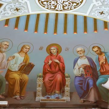 Роспись стен храма в Ставрополе