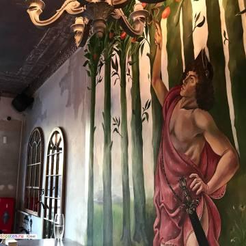 Фреска на стену с трещинами на заказ Москва