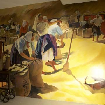 Роспись стены для «Главхлеб» / Москва