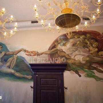 Роспись стен пиццерии - Москва