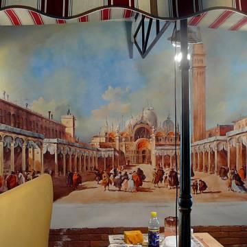 Оформление ресторана • Фреска с Венецией