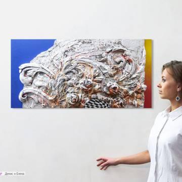Настенная скульптура с цветами для стен интерьера