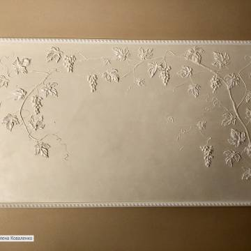 Декоративная лепнина на стену из гипса (виноград)