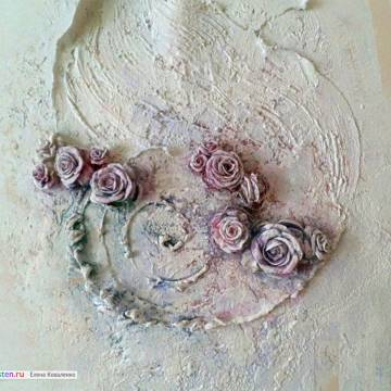 Купить барельеф на стену | цветы