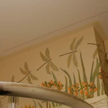 Стрекозы на стене • роспись детской комнаты