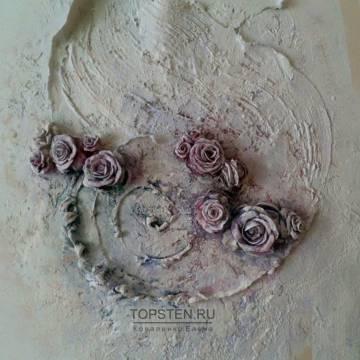 Купить барельеф на стену • цветы
